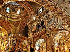 baroque interior - Google Search The Basilica of San Juan de Dios