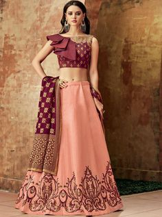 Buy Online New and Latest Lehenga Choli Designs of 2020 Lehenga Choli Designs, Lehenga Choli Online, Ghagra Choli, Indian Lehenga, Silk Lehenga, Silk Dupatta, Crop Top Designs, Blouse Neck Designs, Indian Dresses