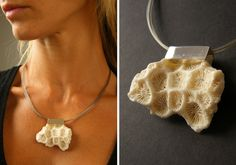 FREE Shipping Coral, pendant, Silver 925, white Coral,  Statement, New -  UNIQUE- Handmade von JewellryWithSoul auf Etsy