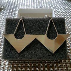 Neu!! Silberne Ohrringe, lange Ohrhänger, 925er Sterling Silber 418ed12f23