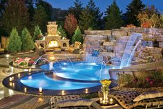 If you are working with the best backyard pool landscaping ideas there are lot of choices. You need to look into your budget for backyard landscaping ideas Insane Pools, Amazing Swimming Pools, Swimming Pools Backyard, Swimming Pool Designs, Cool Pools, Pool Landscaping, Lap Pools, Indoor Pools, Pool Decks