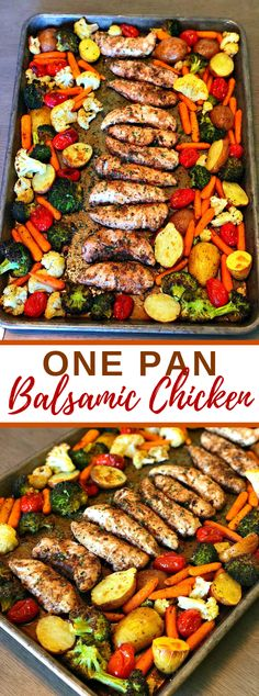 One Pan Balsamic Chicken Give me a chance to acquaint you with the ideal Summer dinner, one dish balsamic chicken! There is not really any planning time however huge amounts… - One Pan Balsamic Chicken One Pan Dinner, Dinner Meal, Sheet Pan Dinner, One Pot Meals, Easy Meals, Pot Pasta, Cooking Recipes, Healthy Recipes, Pan Cooking