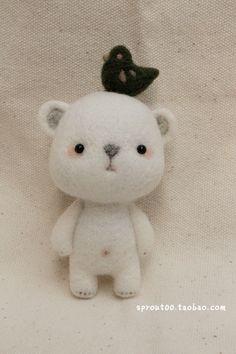SPROUT原创手工羊毛毡小白熊项链/包挂件-多款-萌【限量】