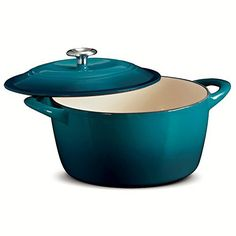 Tramontina 6.5 Quart Enameled Cast Iron Dutch Oven Teal