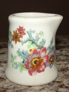 Vintage Restaurant Ware Individual Creamer Wildflowers Wild Flowers Colorful OLD #Unknown