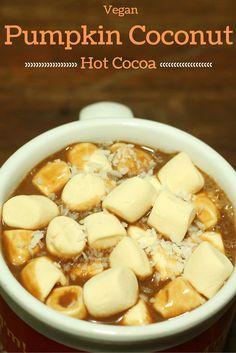 Vegan Pumpkin Coconut Homemade Hot Cocoa Recipe - easy homemade hot cocoa recipe that is allergy friendly, easy, and delicious