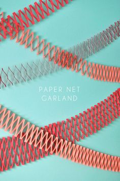DIY paper net garland | oh happy day
