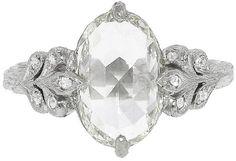 Cathy Waterman Unique Rose Cut Moghul Diamond Oak Leafside Ring on shopstyle.com