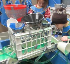 Simply said, The Funnels and Clear Plastic Tubing apparatus is a favorite in the water table because of the breadth and depth of play foster. Sensory Activities, Sensory Play, Outdoor Activities, Water Tray, Sand And Water Table, Sensory Boxes, Sensory Table, Outdoor Learning Spaces, Early Years Classroom