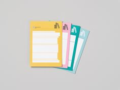 Graphic note pads for Gothenburg City Library