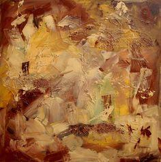 Ms Brown, schilderij van Marion Buijink | Abstract | Modern | Kunst