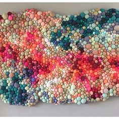 Textile Sculpture, Textile Art, Fabric Art, Fabric Crafts, Book Crafts, Arts And Crafts, Bubble Art, Textile Texture, Fabric Jewelry