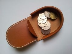 Handmade Hoof Style Leather coin purse / case / by LeatherdeHome