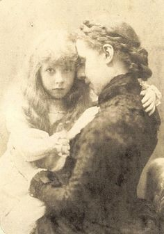 Maggie & Alcy Stepney Cowell, niece and great-niece of William De Salis. ca.1880s  so haunting and lovely