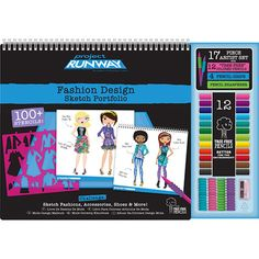 Budding fashion designers can create a portfolio book filled with runway-worthy clothing and accessory sketches using the Project Runway Fashion Design Sketch Portfolio Artist Set! Description from mailjust4me.com. I searched for this on bing.com/images