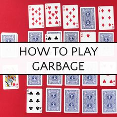 Garbage is an easy card game for kids, from preschoolers working on number recognition to older kids who love playing games. Great card game for classroom time or family game night. Math Card Games, Family Card Games, Playing Card Games, Games To Play With Kids, Card Games For Kids, Indoor Activities For Kids, Family Activities, Preschool Games, Activity Games