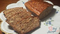 Healthy bread without flour Slovak Recipes, Russian Recipes, Low Carb Recipes, Bread Recipes, Cooking Recipes, German Bakery, Vegan Desserts, Baked Goods, Banana Bread