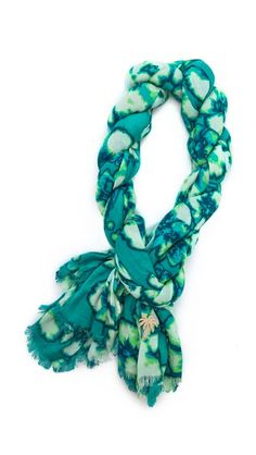 washed hibiscus print scarf / juicy couture. www,nirhara.com.