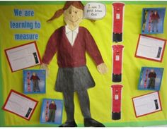 A EYFS maths display on using non-standard units of measurement. This linked in with our topic on 'The Jolly Postman' we used postboxes! Maths Eyfs, Eyfs Classroom, Primary Classroom, Classroom Ideas, Classroom Display Boards, Maths Display, Classroom Displays, Jolly Christmas Postman, People Who Help Us