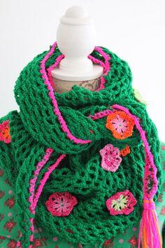 Hook Attic: green crochet shawl inspiration only