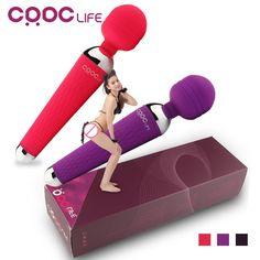 CRDC Chaude Adulte Sex Toys pour Femme 15 Vitesse Puissance Orale Vibrateurs de clitoris pour les Femmes USB Rechargeable AV Baguette Magique Vibrateur Masseur