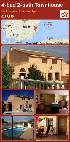 4-bed 2-bath Townhouse in La Romana, Alicante, Spain ►€279,720 #PropertyForSaleInSpain