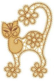 Flower cat machine embroidery design. Machine embroidery design…