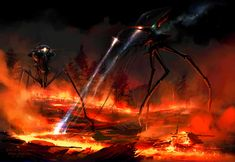 War of the Worlds is a 2005 American science fiction film adaptation of H. Wells' novel of the same name, directed by Steven Spielberg and written by Josh Friedman and David Koepp. Fiction Movies, Science Fiction Art, Sci Fi Movies, Tom Cruise, Cgi, Aliens, Arte Tribal, Mekka, Alien Invasion