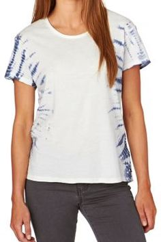 Rusty T-shirts - Rusty Day Trip Short Sleeve Tee - White/Blue #modasto #giyim #moda https://modasto.com/rusty/kadin/br34337ct2