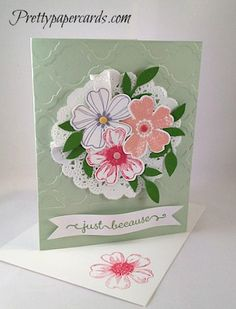Adorable Pansies by Pretty Paper Cards - Cards and Paper Crafts at Splitcoaststampers
