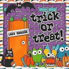 Trick of Treat tiny kit from Simply Scraps by Laura Banasiak #digiscrap #scrapbooking #digifree #scrap #freebie #scrapbook