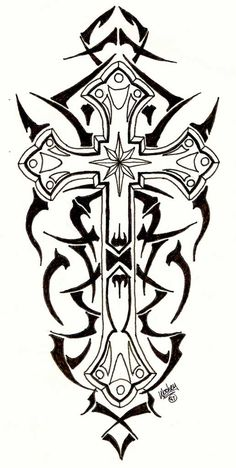 Tribal Cross Tattoos | Tribal Cross by ~designbyry on deviantART