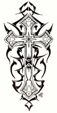 Tribal Cross Tattoos | Tribal Cross by ~designbyry on deviantART