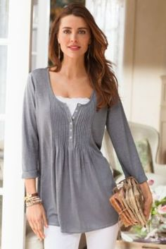 Pleated Textured Top from Soft Surroundings
