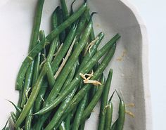 Find the recipe for Green Beans with Ginger Butter and other ginger recipes at Epicurious.com
