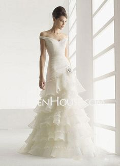http://www.jenjenhouse.com/Zipper-Up-A-line-Princess-Off-the-shoulder-Ruffle--Lace-Wedding-Dresses-With-Sweep-Train-002004510-g4510