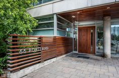 66 Portland Lofts-66 Portland St #206 | Ideal 530 sf 1 bedroom & 1 bath loft for 1st time buyers/investors or a pied-a-terre. Features 10 ft high exposed concrete ceilings, dark laminate floors & 2 large fluted concrete columns. | More info here: torontolofts.ca/66-portland-lofts-lofts-for-sale/66-portland-st-206 Concrete Column, Concrete Ceiling, Exposed Concrete, Dark Laminate Floors, Hardwood Floors, Lofts For Rent, High Windows, Window Wall, Open Concept