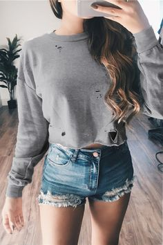 Grey Long Sleeves Ro