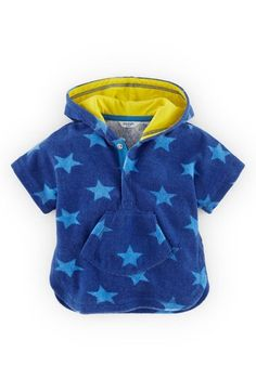 Mini Boden 'Towelling' Hooded Cover-Up (Baby Boys) available at #Nordstrom