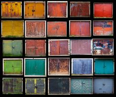 Lithuanian photographer Agne Gintalaite documents colorful garage doors that have remained beautifully intact for decades in her series titled Beauty Remains.