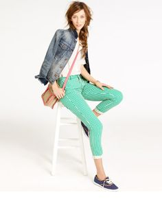 Bungalow Stripe Trousers, madewell.com