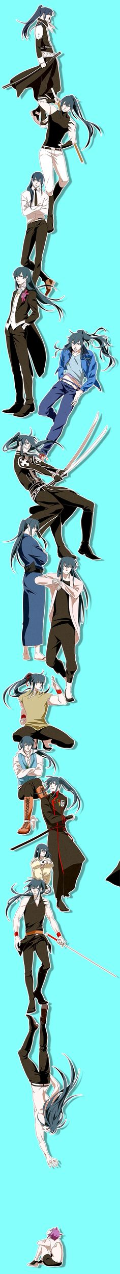 kanda and alma from dgm #anime