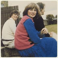 A 16 year old Lady Diana gazes at her father who captured this photo of his young daughter while watching a cricket game hosted at the grounds of Althorp Estate.