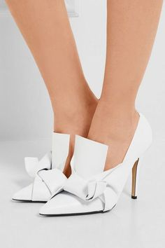 17b5acbd07b Heel measures approximately 100mm  4 inches White leather Slip on Made in  ItalyAs seen in