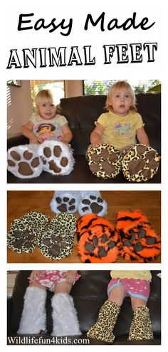 These animal feet not only look great, but they're suprisingly easy to make! Penny at Wildlife Fun 4 Kids made polar bear, jaguar, tiger and elephant feet - what will you make for your kids?