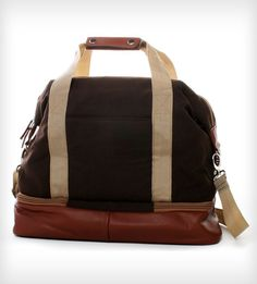 Midday Weekender Bag by Po Campo on Scoutmob Shoppe. Lovely little hybrid bag with a bottom compartment for toiletries.: