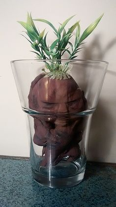 My fiancé and I finished making our very own Mandrake to use as a centerpiece. I'm pretty stoked on how he turned out, and I thought I'd share with you how we did it.