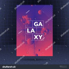 Vibrant gradients' abstract poster design, modern vector vertical A4 banner.