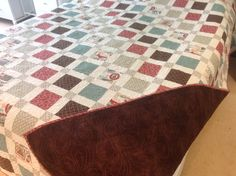 First quilt I made, called Leaving on a Jet Plane