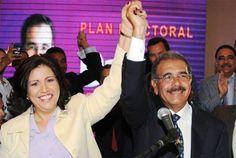 Danilo Medina y Margarita Cedeño de Fernández resultaron ganadores en las elecciones de 2012.